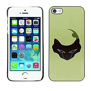 Be Good Phone Accessory // Dura Cáscara cubierta Protectora Caso Carcasa Funda de Protección para Apple Iphone 5 / 5S // Abstract Face