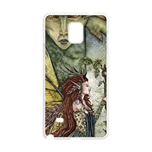 Samsung Galaxy Note 4 Cell Phone Case White_Greenwoman Greenman Fall Fairy TR2236068