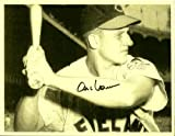 Al Rosen Cleveland Indians Sepia Autographed Signed 8 X 10 Print - (Near Mint Condition) - COA