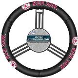 Kyпить MLB Boston Red Sox Leather Steering Wheel Cover на Amazon.com