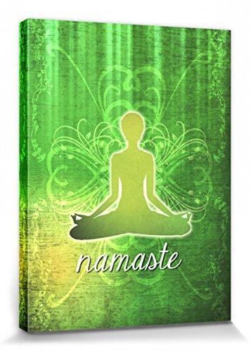 1art1 Yoga - Namaste Cuadro, Lienzo Montado sobre Bastidor ...
