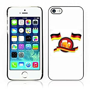 Kellie-Diy Hot Style cell phone PC case cover // German Flags And Beer // Apple Iphone 1KdUDhVwqDC 5 5S