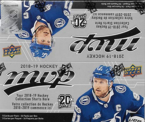 (2018 2019 Upper Deck MVP NHL Hockey Series Unopened Retail Box of 36 Packs with Chance for Stars, 1 Draft Picks, Rookie Cards, Silver Scripts plus)
