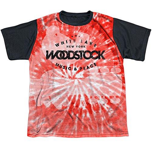 Janis Joplin Tie Dye T-shirt - Woodstock Music Festival Tie Dye Music & Peace Boys Youth Black Back T-Shirt Tee