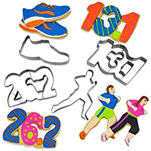 Gone For a Run Runner's Cookie Cutters (Set of 4) (13.1, 26.2, Shoe and Runner)
