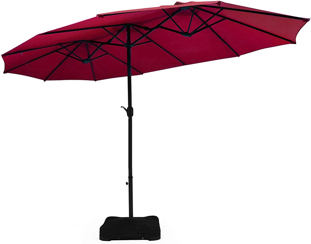 Tangkula 15 Ft Patio Double Sided Umbrella