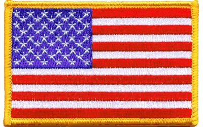(United States Iron-on Embroidered Flag Patch)