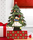 Christmas Tree Advent Calendar - Crafted all wood