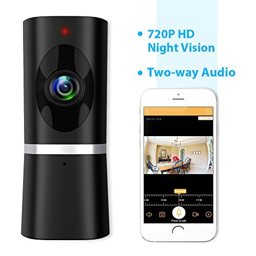 Wireless Security Camera, WiFi IP Indoor Home Baby Pet Surveillance Camera Monitor 720P HD Motion...