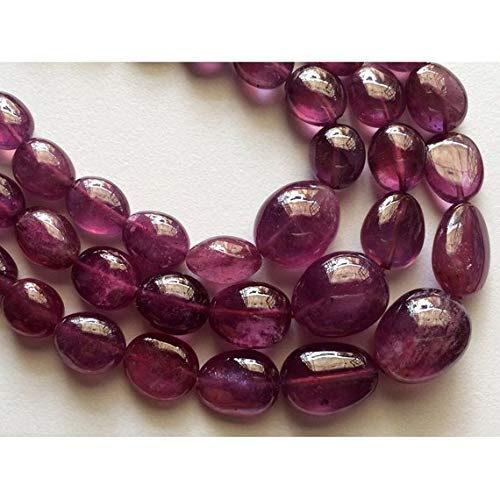 (1 Strand Natural Ruby Beads Necklace,Tumble Beads, Deep Ruby Pink, Glass Filled Ruby 5mm to 13mm Beads, 8 Inch by Gemswholesale)