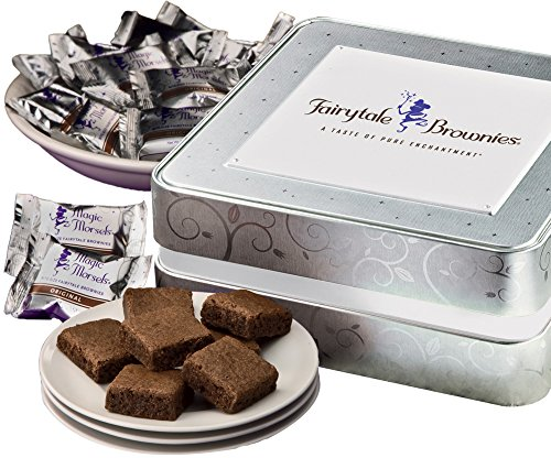 Fairytale Brownies Keepsake Tin Sugar-Free Magic Morsel 24 Gourmet Food Gift Basket...