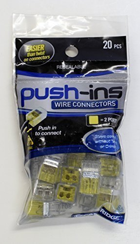 Cambridge Wire Connectors Push Ins 2 Ports 20 Pcs