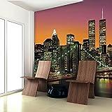 Walplus 365x255 cm Wall Stickers New York City Mural Art Decals Vinyl Home Decoration DIY Living Bedroom Office Décor Wallpaper Kids Room Gift, Multi-colour