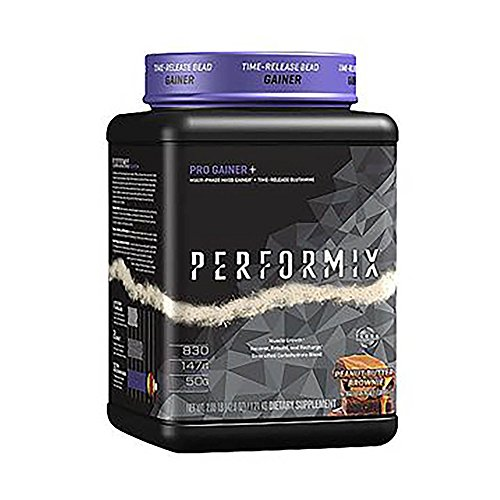 PERFORMIX Pro Gainer+ Multi Phase Mass Gainer, Time Release Glutamine, Muscle Growth, Recover, Rebuild, Recharge, (Double Chocolate Brownie, 2 lb)