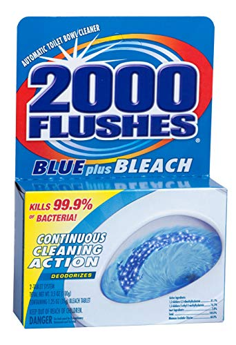 2000FlushesBluePlusBleach Automatic Toilet