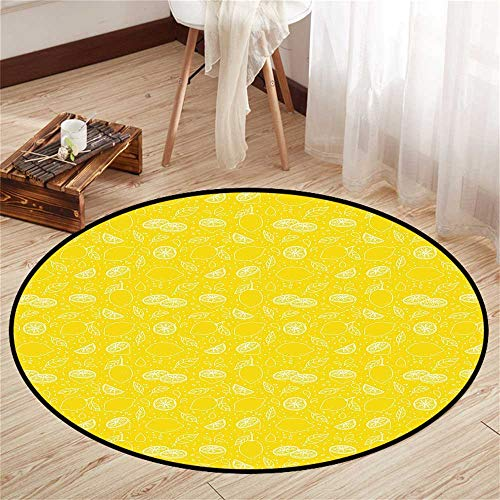 Circle Baby Floor mat Activity Gym Round Indoor Floor mat Entrance Circle Floor mat for Office Chair Wood Floor Circle Floor mat Office Round mat for Living Room Pattern 4'3