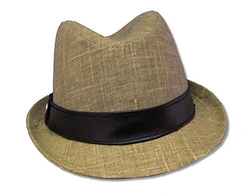 Adult Alicia Keys Khaki Fedora Hat (Medium (59.5 cm)) ()