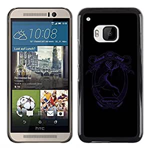 LECELL -- Funda protectora / Cubierta / Piel For HTC One M9 -- Black Stag Stout - Baratheon --