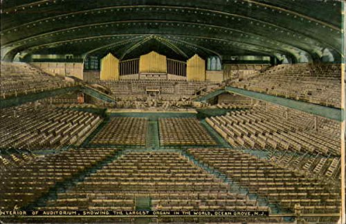 Interior of Auditorium, Showing the Largest Organ in the World Original Vintage Postcard (Best Auditoriums In The World)
