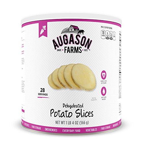 Augason Farms Dehydrated Potato Slices 1 lb 4 oz No. 10 Can (Potato Dehydrated)