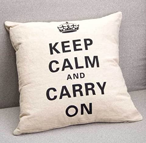 dolly2u 1pcs Square Fashion linen Throw Pillow Cases Home Sofa Decorative Cushion Cover#Crown&words