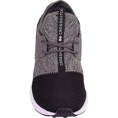 Herren Crosshatch Mesh Trainer Gym Walking Sommer Sport Leicht Casual Schuhe Sneakers Mid Grey - Crosshatch