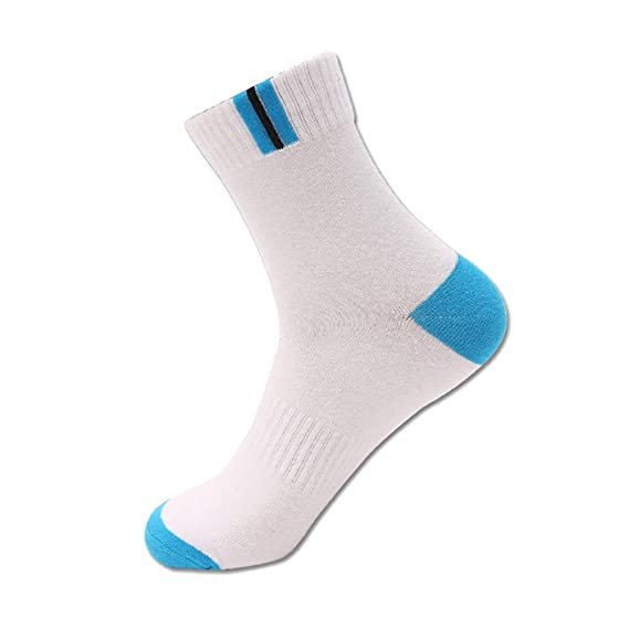 chaussettes mollets respirantes et confortables Fjiujin,3 paires de coton sport riche course badminton boxe tennis de table etc
