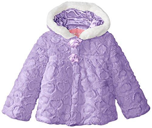 - Wippette Little Girls' Toddler Faux Fur Jacket with Pattern, Purple, 3T