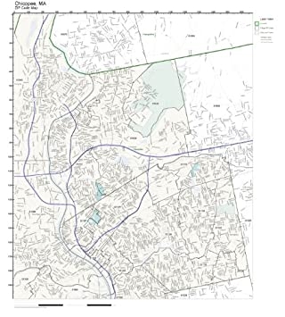 Amazon.com: ZIP Code Wall Map of Chicopee, MA ZIP Code Map Not