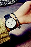 Generic Black and white dial face large numbers of small Korean models retro wave table explosion models Hot College Wind casual watch man boy and women girls lady students