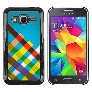 EJOY---Cubierta de la caja de protección la piel dura para el / Samsung Galaxy Core Prime / --Rayas del arco iris