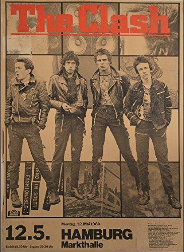Annex City Rockers Punk Rock Music The Clash Concert Poster Framed Art Print