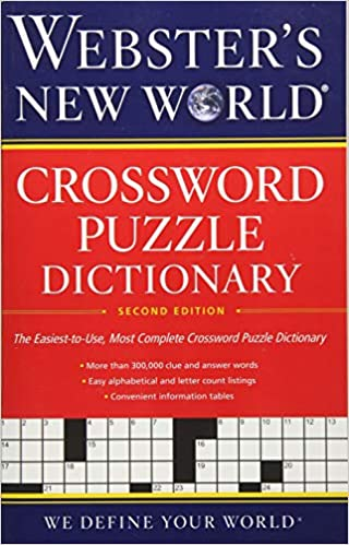 Second Edition Websters New World Crossword Puzzle Dictionary