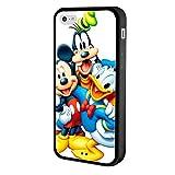 iPhone 5c case, Onelee Customized Disney A Goofy Movie Tire tread pattern TPU Rubber Black iPhone 5c Case Neverfade Scratchproof Ametabolic Case