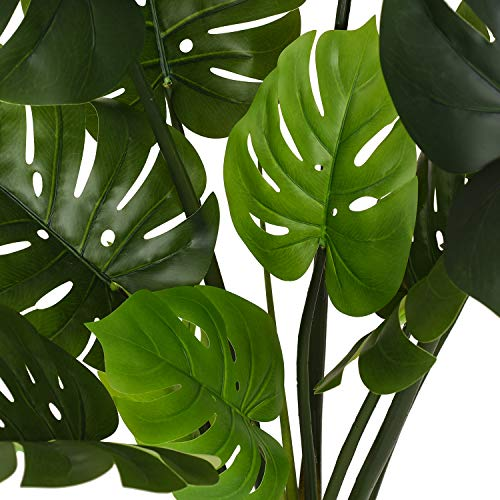 """Woooow 2Pack Artificial Monstera Deliciosa Plant 43"""" Fake Tropical Palm Tree, Perfect Faux Swiss Cheese Plant for Home Garden Office Store Decoration 2"""