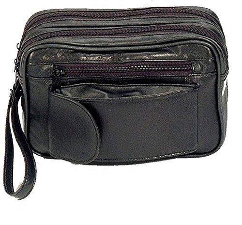 Herrentasche Handgelenktasche Arbeitstasche Umhängetasche Tasche Flug Leder NEU