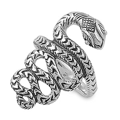 Viper Snake Ring, Sterling Sil