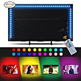 #10: Led Strip lights, Sunix 6.6ft RGB Bias Lighting for 40-60 inch HDTV,USB LED TV Backlight Kit with Remote - 20 Colors and 4 Dynamic Mode (4pcs x 50cm LED Strips) [Energy Class A+]