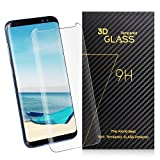 Amoner Galaxy S8 Screen Protector [Full Coverage] [HD Clear] [Case Friendly] Tempered Glass Screen Protector for Samsung Galaxy S8, Transparent