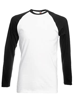 Plain Gildan Cotton Blank Oversized Tshirt T-Shirt Black/White Men Women  Unisex Long Sleeve Baseball T Shirt