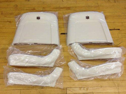 - Assembled Bucket Seat Bottom/Back (6-Piece Set) (WHITE)