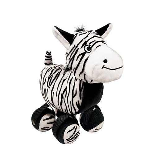 KONG Tennis Shoes Zebra Dog Toy, Large