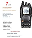 WouXun KG-UV9D Multi-Band Multi-functional DTMF Two-way Radio, Dual-Band Walkie Talkie, 7 bands included Air Band, 136-174MHz/400-512MHz, with 2 antennas + car charger + 2000mAh battery, Black