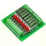 ELECTRONICS-SALON Slim Panel Mount DC12V Source/PNP 8 SPST-NO 5A Power Relay Module, PA1a-12V