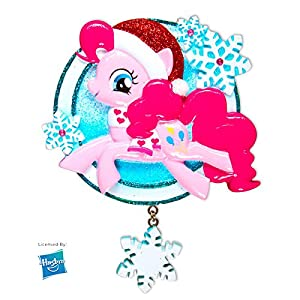 PERSONALIZED CHRISTMAS ORNAMENT LICENSED- MY LITTLE PONY MLP PINKIE PIE SNOWFLAKE SANTA HAT