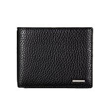 Banuce Men's Cowhide Leather Thin Bifold Wallet