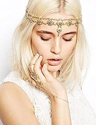 Missgrace Crystal Bohemian Women Head Chain Wedding Party Hair Accessories Bohemian Headpiece