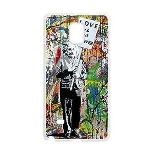 Samsung Galaxy Note 4 Cell Phone Case White Einstein 001 HIV6755169486663