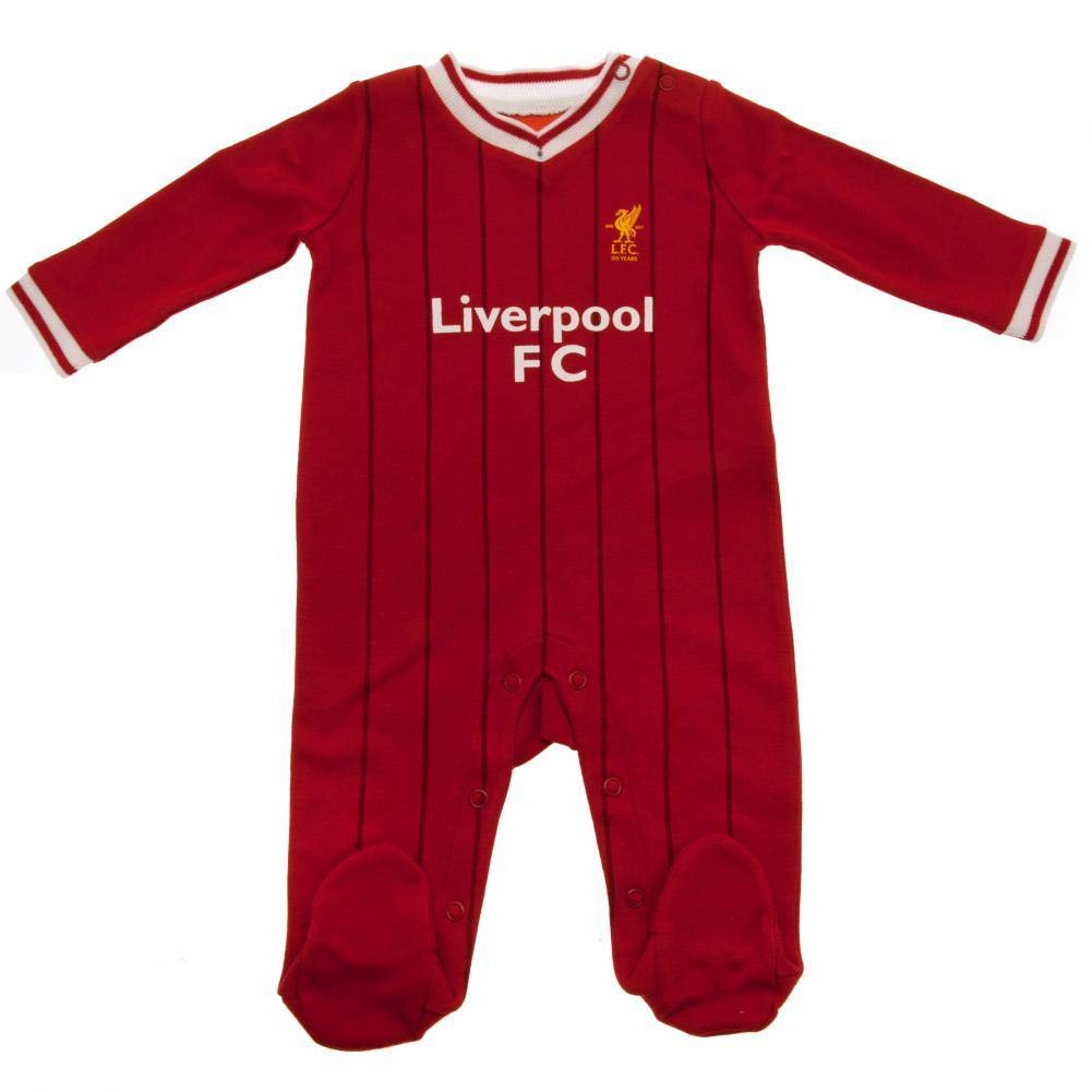 Rouge//Rayure Couleurs Maillot Match /à Domicile Rouge 6-9 Mois Grenouill/ère th/ème Football Liverpool FC Officiel b/éb/é//Enfant