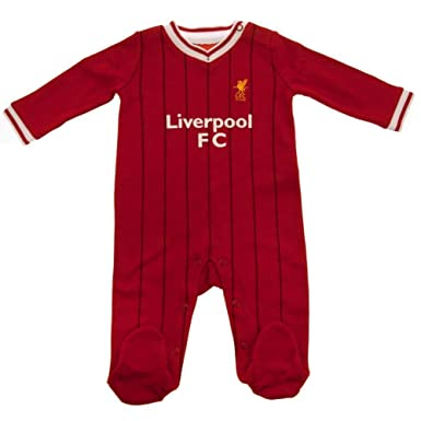 outlet store fe426 a56f8 Liverpool Football Club Official Soccer Gift Home Kit Baby Sleepsuit Red